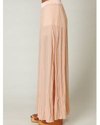 Free People | Pink Full Maxi Chiffon Skirt | Lyst