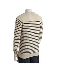French Connection - Blue Angora Blend Breton Sweater for Men - Lyst