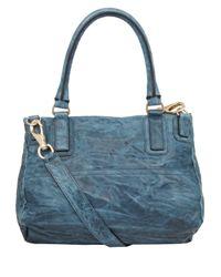 Givenchy - Blue Peacock Medium Washed Pandora Satchel - Lyst
