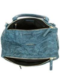 Givenchy | Blue Peacock Medium Washed Pandora Satchel | Lyst