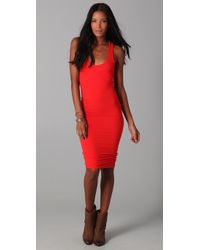 James Perse - Red Twisted Tank Dress - Lyst