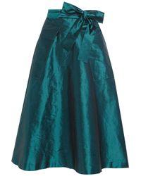 J.Crew | Blue Silk-shantung A-line Skirt | Lyst