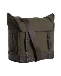 Kenneth Cole | Green Canvas Time-mess Pleasures Messenger Bag for Men | Lyst