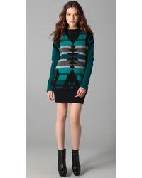 L.A.M.B. | Blue Intarsia Tunic Sweater Dress | Lyst