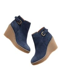 Madewell | Blue The Buckle-up Wedge | Lyst