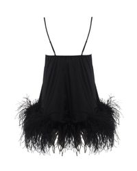 Myla | Black Lorene Maribou Feather Chemise | Lyst