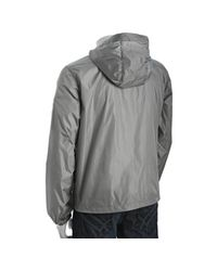 Prada | Gray Grey Nylon Zip Front Hooded Windbreaker for Men | Lyst