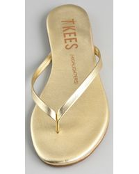 TKEES - Metallic Highlighters Thong Sandals - Lyst