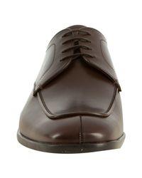 Prada - Brown Burnt Leather Seam Detailed Oxfords for Men - Lyst