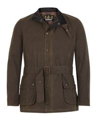 Barbour | Ursula Waxed Jacket Brown for Men | Lyst