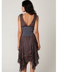 Free People | Gray Fp One Wisteria and Lattice Dress | Lyst