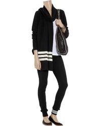 Y-3 | Black Cashmere-blend Scarf Cardigan | Lyst