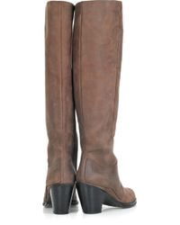 Acne | Brown Pistol Leather Boots | Lyst