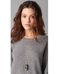 Belle Noel - Metallic Amulet Pendant Necklace - Lyst