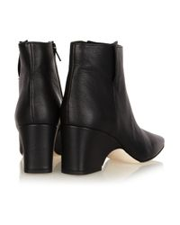Calvin Klein | Black Isabella Leather Ankle Boots | Lyst