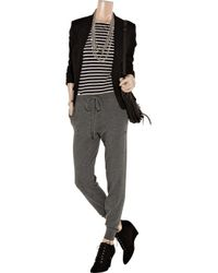 Chinti & Parker - Gray Two-tone Cashmere Sweatpants - Lyst
