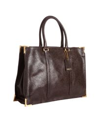 Fendi | Brown Dimpled Leather Classic No. 4 Tote Bag | Lyst