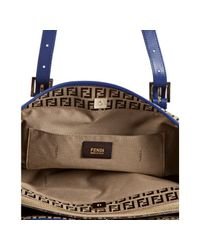 Fendi | Light Brown and Blue Zucchino Spalmati Forever Large Tote | Lyst