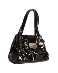 Jimmy Choo | Black Patent Leather Roquette Small Tote | Lyst