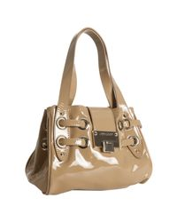 Jimmy Choo | Natural Nude Patent Leather Roquette Small Tote | Lyst