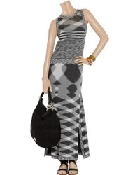 Missoni | Gray Short Dress | Lyst
