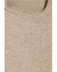 N.Peal Cashmere - Brown Turtleneck Cashmere Sweater Dress - Lyst