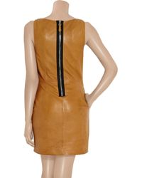 Rag & Bone - Brown Tribeca Leather Shift Dress - Lyst