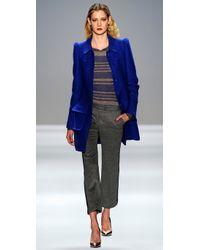 Rebecca Taylor - Blue Runway Coat - Lyst