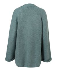 TOPSHOP | Blue Knitted Textured Stitch Cardigan | Lyst