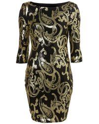 TOPSHOP | Multicolor Baroque Bodycon Sequin Dress | Lyst