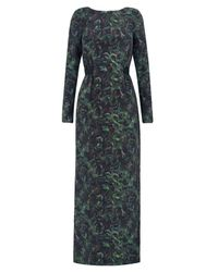 Whyred | Green Emerald Liberty Print Ally Dress | Lyst