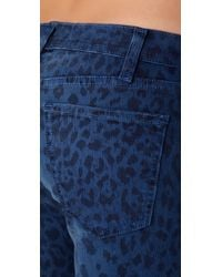Current/Elliott - Blue The Ankle Skinny Jeans - Lyst