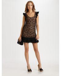 RED Valentino | Black Square Neck Crochet Dress | Lyst