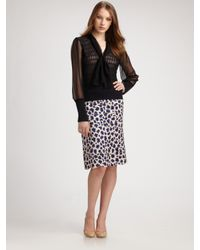 Tory Burch | Blue Meri Silk/bamboo Skirt | Lyst