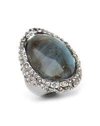 Alexis Bittar | Metallic Crystal Encrusted Labradorite Ring | Lyst