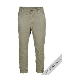 AllSaints - Natural Growl Chino for Men - Lyst