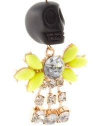 ASOS Collection - Yellow Asos Skull Drop Earring - Lyst