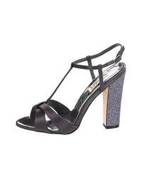 Badgley Mischka | Gray Jenie Sandal Heels | Lyst