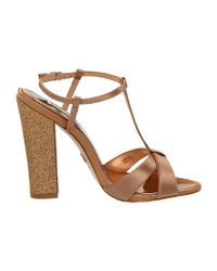 Badgley Mischka - Natural Jenie Sandal Heels - Lyst