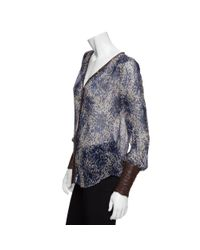 Elizabeth and James - Multicolor Chantal Leather Trim Animal Print Blouse - Lyst