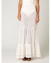 Free People | White Cotton Mesh Maxi Skirt | Lyst