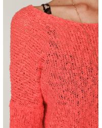 Free People | Pink Beach Day Scoopneck | Lyst