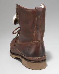 Frye | Brown Thurman Shearling Duck Boot for Men | Lyst