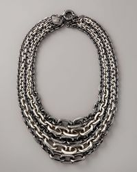 Giles & Brother - Black Multi-strand Chain Necklace - Lyst