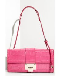 Jimmy Choo | Pink Baguette Shoulder Bag | Lyst