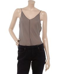 Marc Jacobs - Brown Sheer Georgette Camisole - Lyst