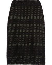 Marni | Green Jacquard and Woven Skirt | Lyst