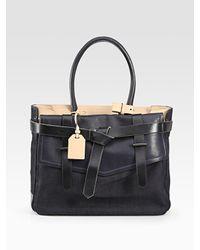 Reed Krakoff | Blue Boxer 1 Denim & Leather Bag | Lyst