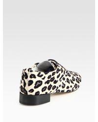 Repetto - Multicolor Zizi Leopard-print Leather Oxfords - Lyst