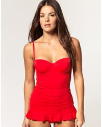 Seafolly | Red Skirted One Piece Swim Suit | Lyst